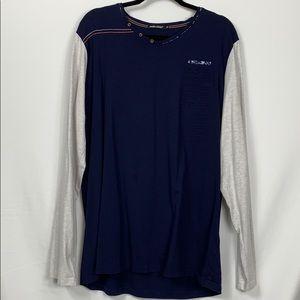 Mars Jones navy blue/grey long sleeved tee XL